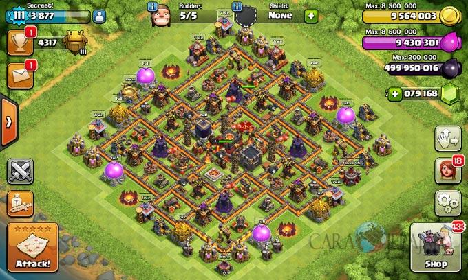 Desain Base Pertahanan Terbaik Untuk Base War TH 10 Update Terbaru 4