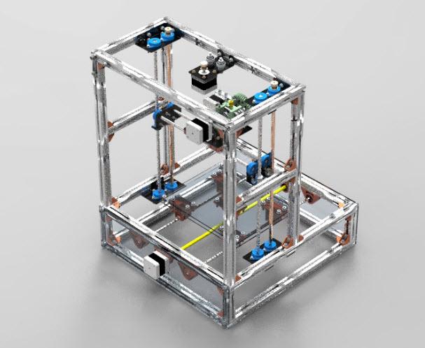 Concept 3D Printer | 3D Model CAD flie for download free