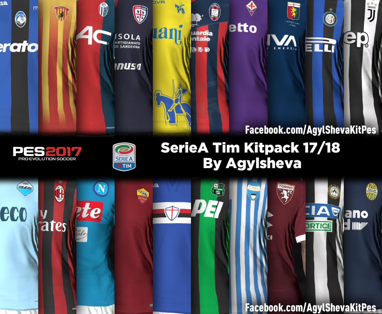 SerieA Kitpack 17/18 PES 2017 By Agylsheva