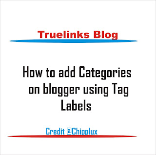 How to add categories on blogger using tag words