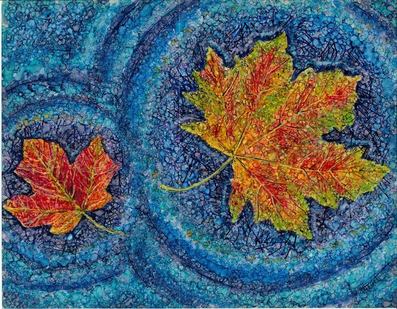 Autumn Leaves Painting by Sarah Merrill
