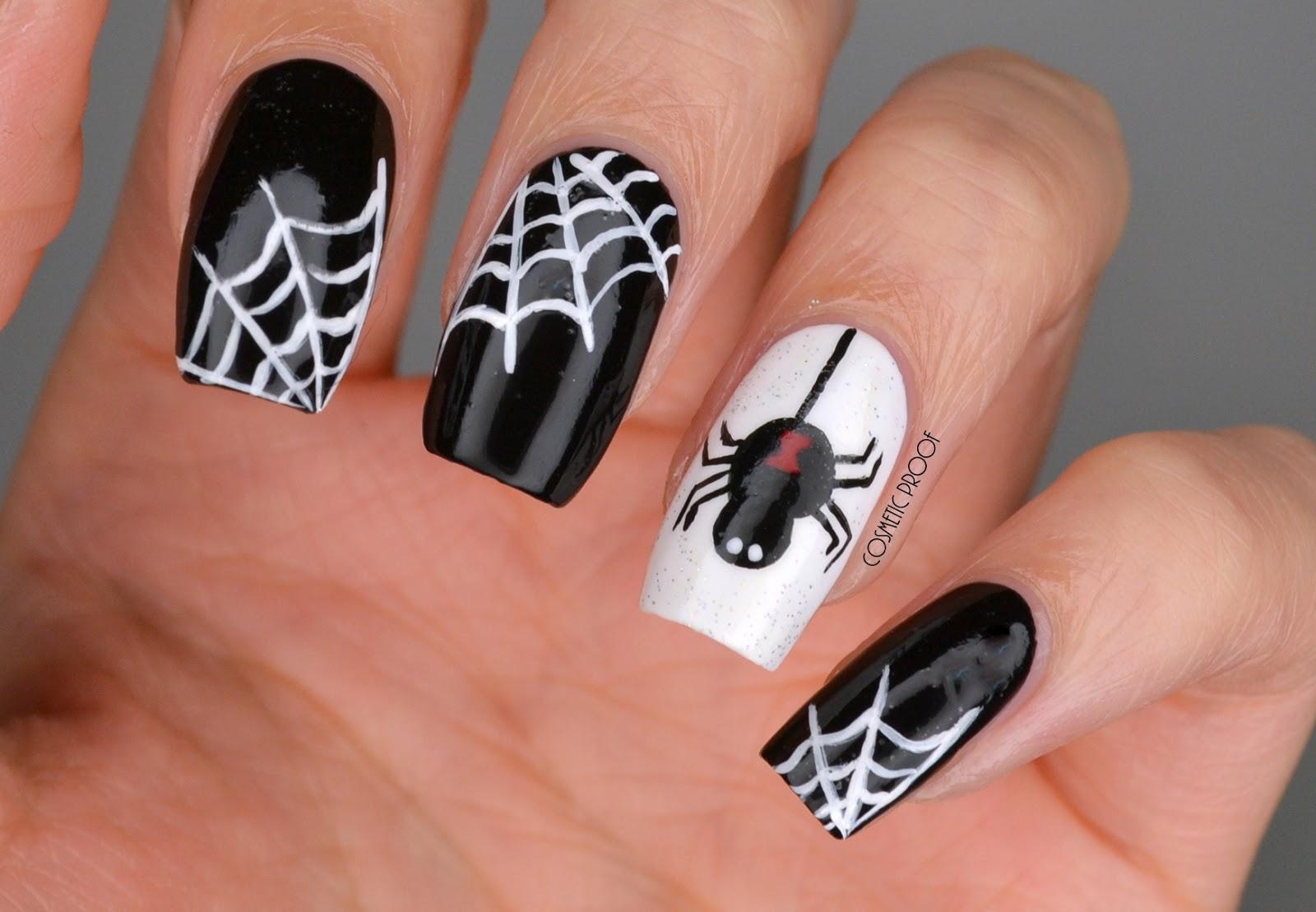 NAILS | Black Widow Spiders #Halloween | Cosmetic Proof ...
