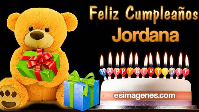 Feliz cumpleaños Jordana