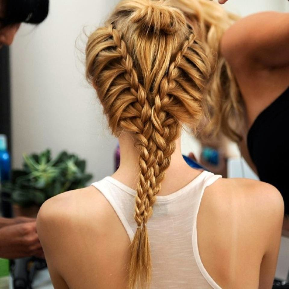 Fish tail hairstyle