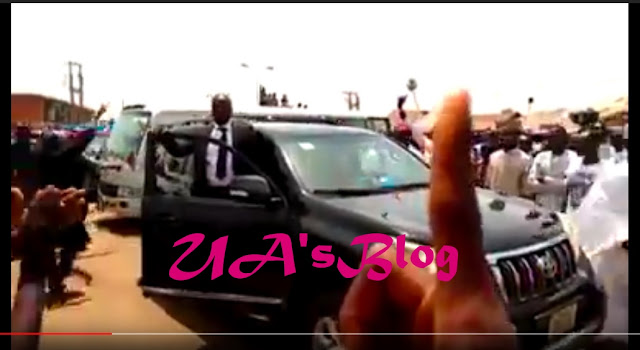Security agents shoot as youths stone Gov Bello, chant 'one term' [VIDEO]