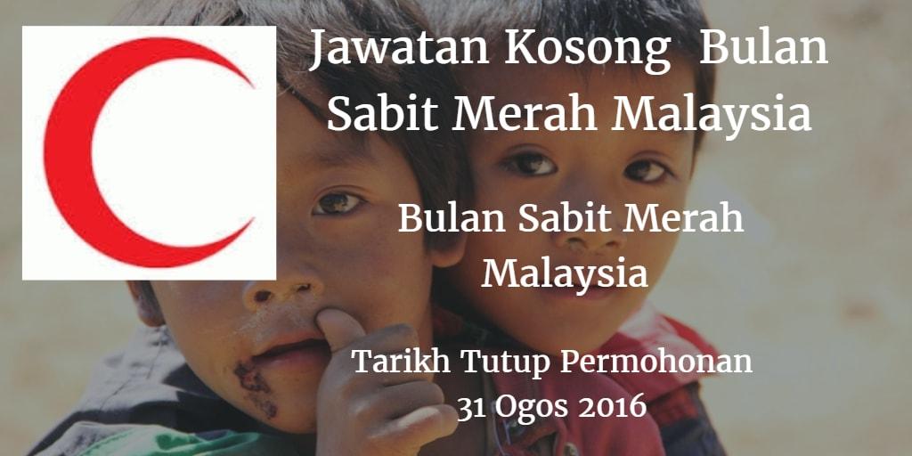 Jawatan Kosong Bulan Sabit Merah Malaysia 31 Ogos 2016