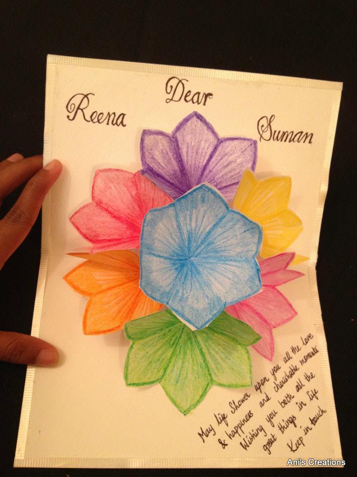 Flower pop up cards to make gardening flower and vegetables exploring myself 3d flower pop up greeting card m4hsunfo