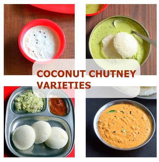 coconut chutney varieties