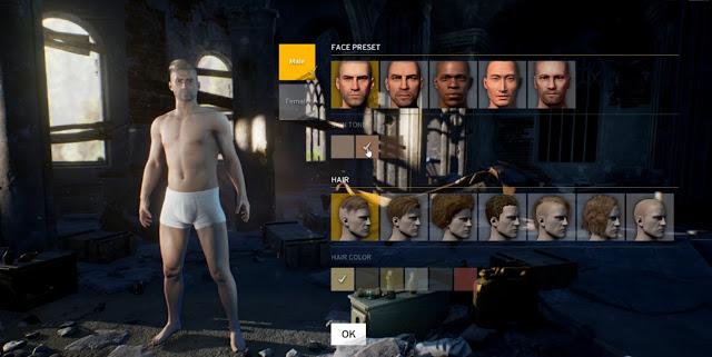 Как создать персонажа в Playerunknown?