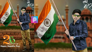 Happy Republic Day - 26th January || PicsArt Photo Editing Tutorial || Manipulation Editing