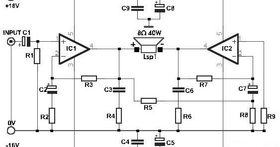 Build a 35W Bridge Power Amplifier with TDA2030 | Circuits