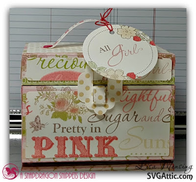 Train Case Party Favor created by Lisa at The Crafting Cave, SVG Attic 3D Tackle Box