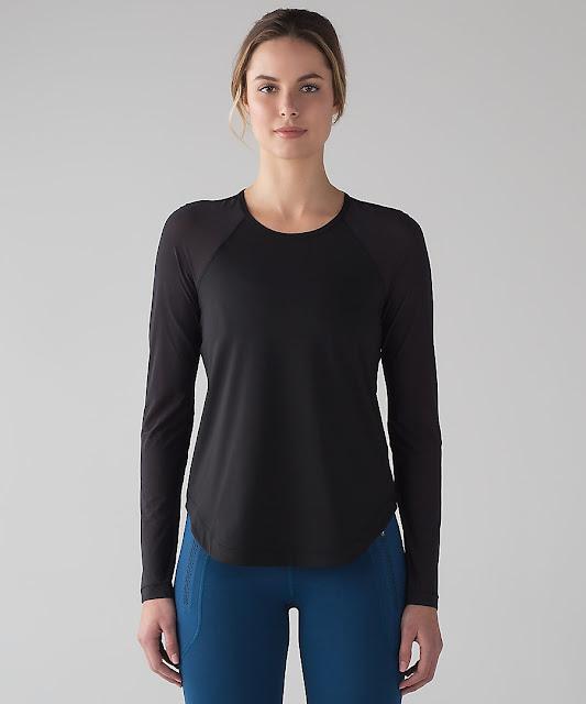 lululemon smooth-stride-ls-black