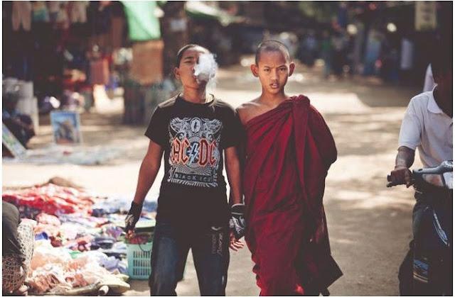 راهب وأخيه !