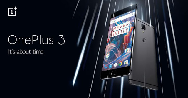 A promotional image for the OnePlus 3
