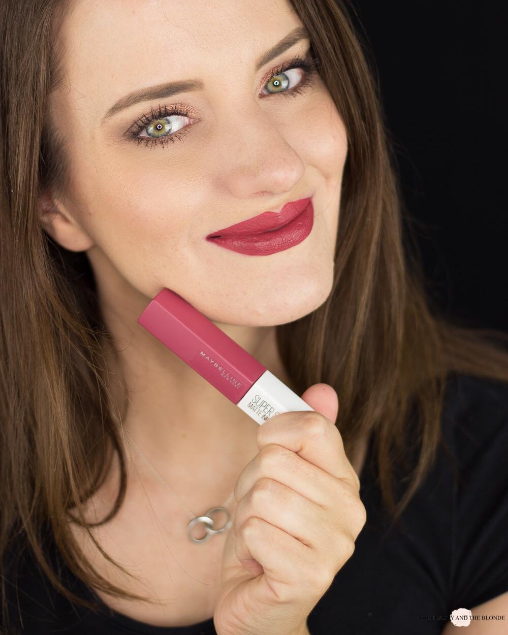 Maybelline Super Stay Matte Ink Ruler Tragebild Lipswatch Review