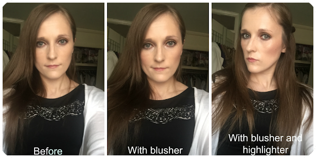before and after freedom pro blush and highlight palette in bronzed and baked