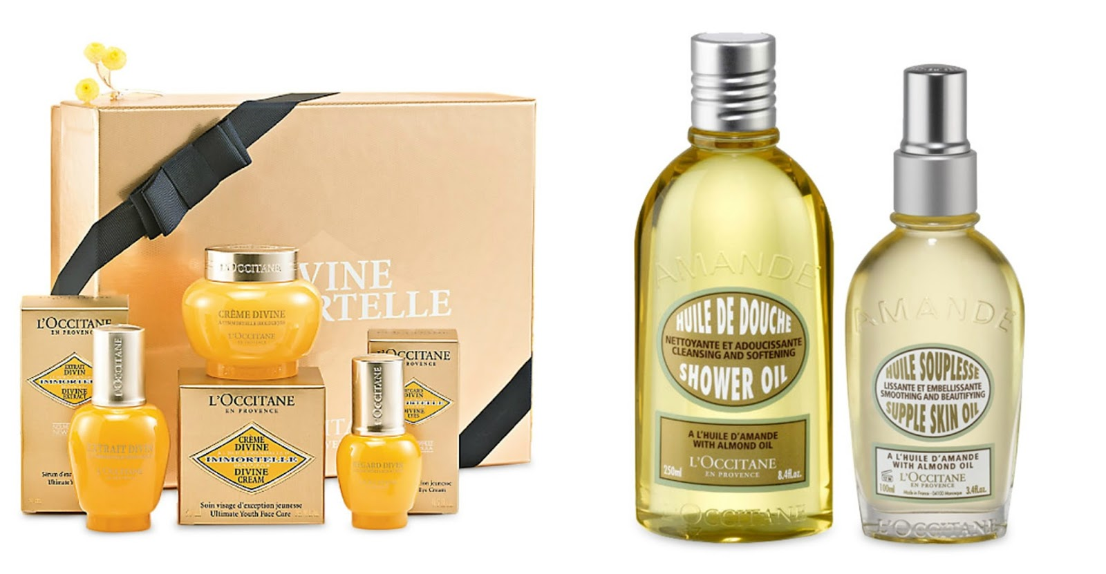 l'occitane summer gift set guide for all budgets full size products almond supple skin oil duo regenerating divine skincare trio