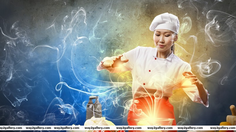 Creative asian chef wallpaper