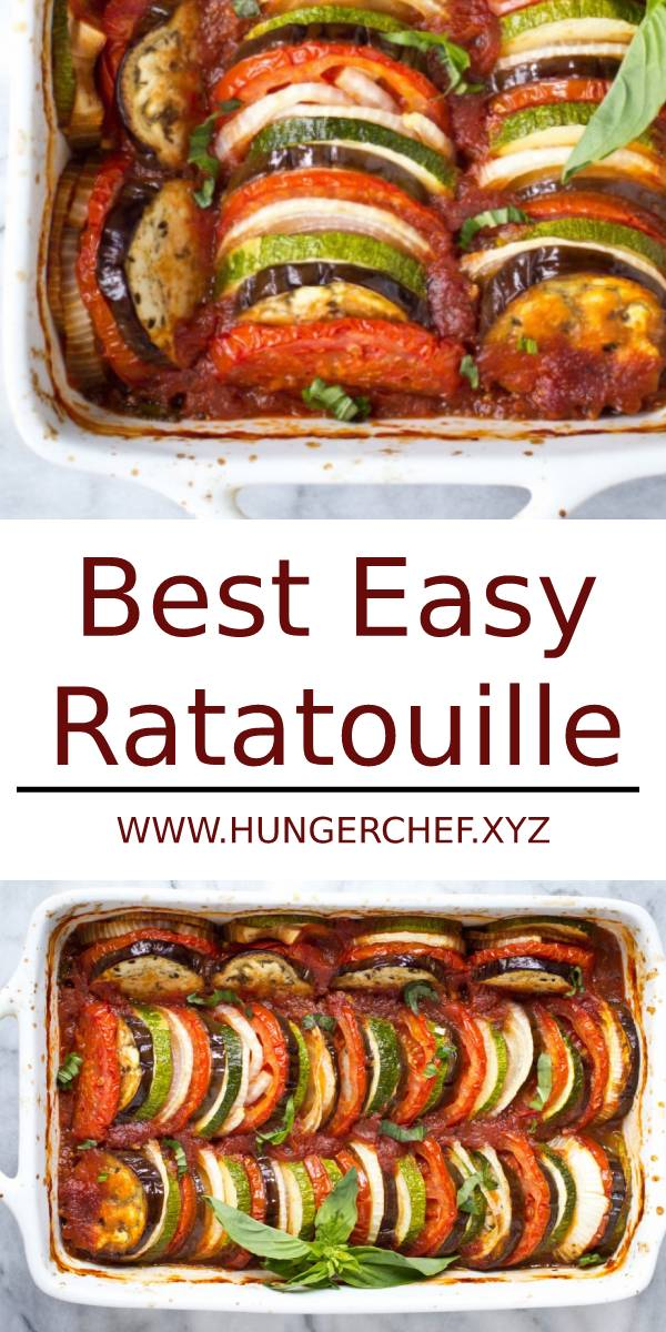 Best Easy Ratatouille | This Ratatouille recipe comes together quickly for a fresh weeknight dinner. It's a light & fresh dish that's gluten free, vegan, and paleo. Plus, it freezes well – so go ahead and make a double batch! (Vegan, Vegetarian, Gluten Free, Paleo, Low Carb, Whole30 Compliant)
