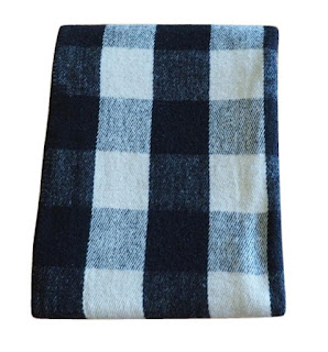 black-and-cream-checkered-wool-blanket