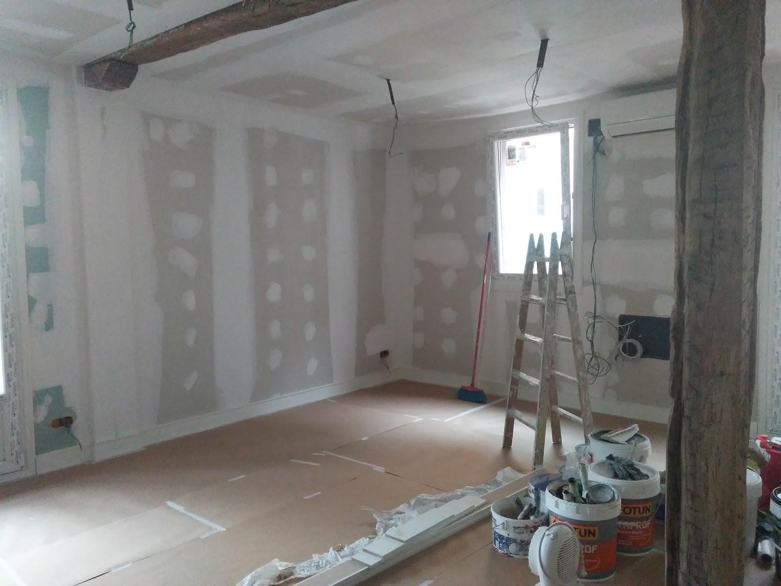 Recikla arte como preparar unas paredes de pladur antes - Pladur para paredes ...