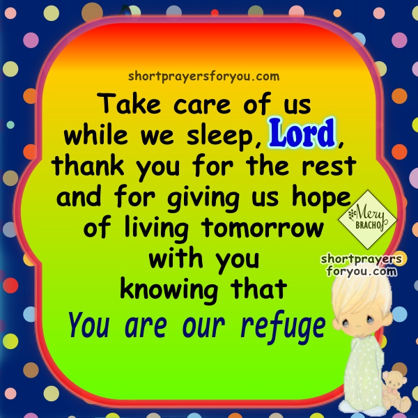 Short prayer for protection in the night with Psalm 28, phrases of good night with prayers to God and Christian images. night prayer with quote from the Bible, Psalms in prayers for Mery Bracho