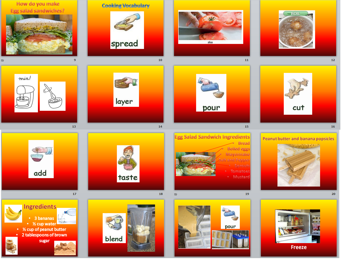 Egg Salad Sandwiches Free Ppt And Worksheet Download