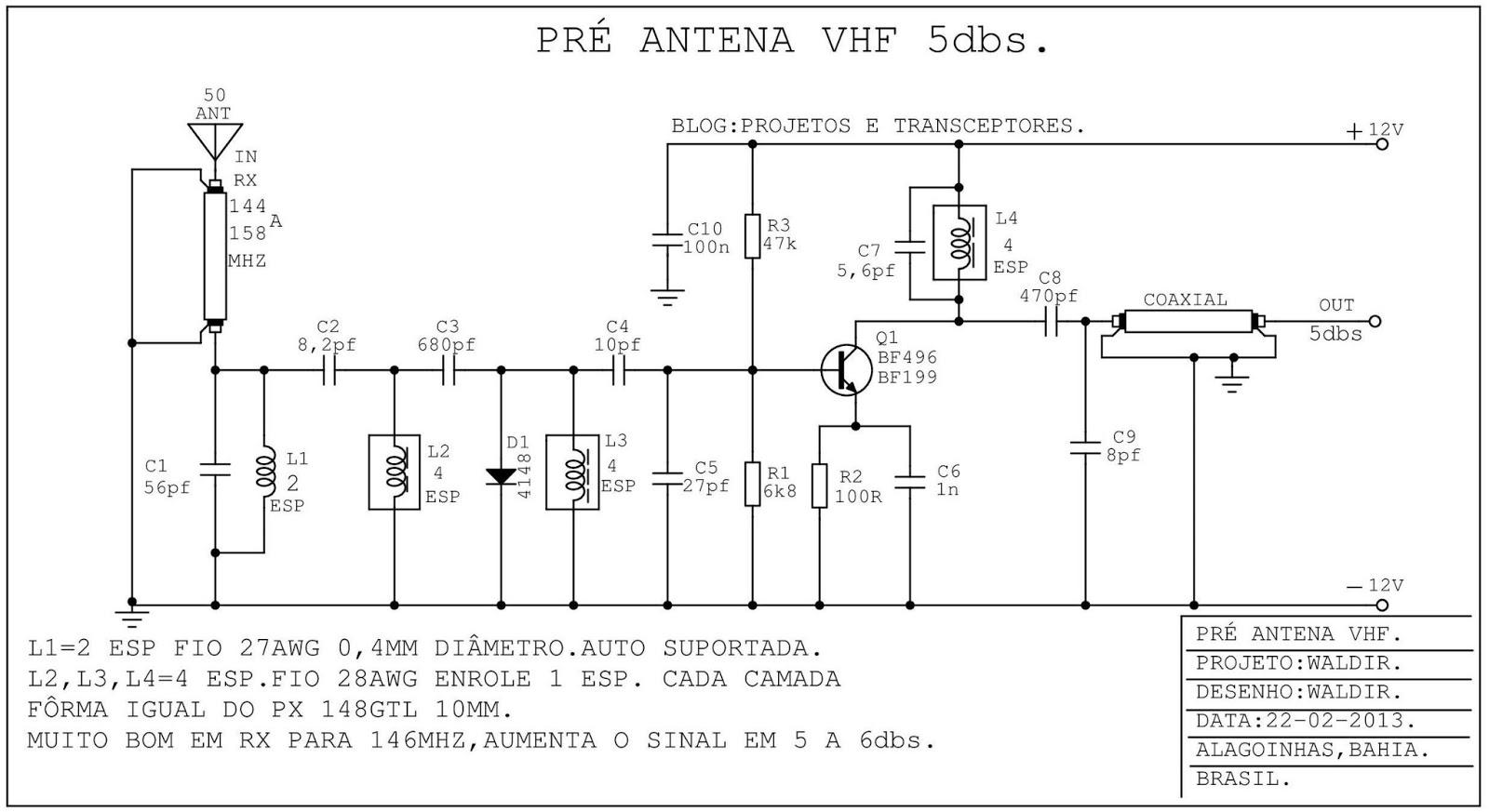 Projetos e transceptores pr amplificador de antena vhf - Amplificador de antena ...