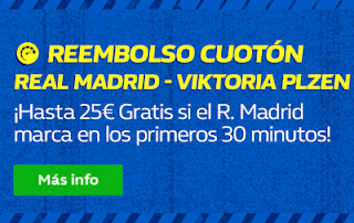 william hill Promo Reembolso Real Madrid vs Viktoria Plzen 23 octubre