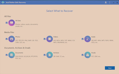 Free Data Recovery Software AceThinker Data Recovery 2018 Free for 1 Year