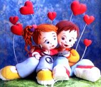 Dibujo del amor de pareja a color