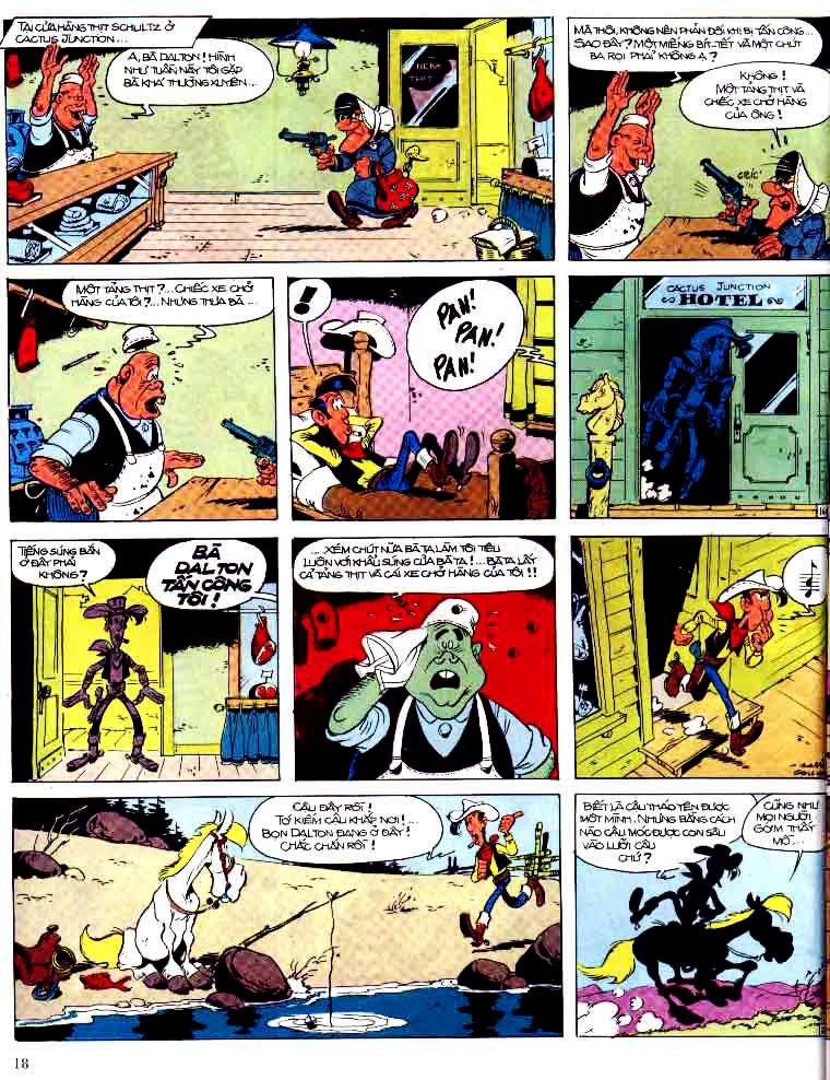 Lucky Luke tap 15 - ma dalton trang 19