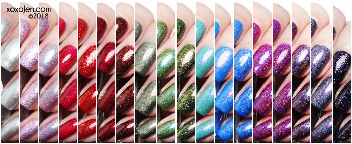 xoxoJen's swatch collage of Hella Handmade Creations June
