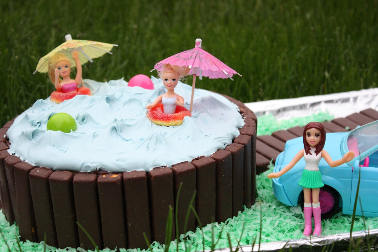 Pass The Peas Please Pool Party Cake