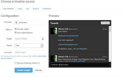 Add Twitter To Blogger
