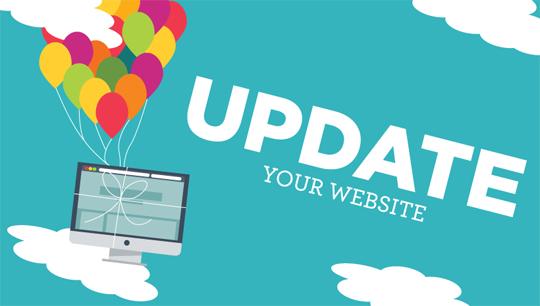 Keep Website updated