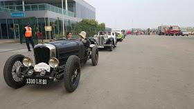Vintage Car Rally entering Budhdh International Circuit, Greater Noida