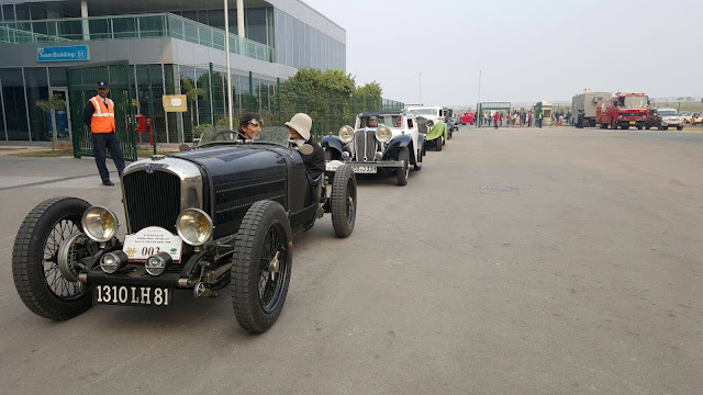 Vintage Car Rally entering Budhdh International Circuit, Greater Noida