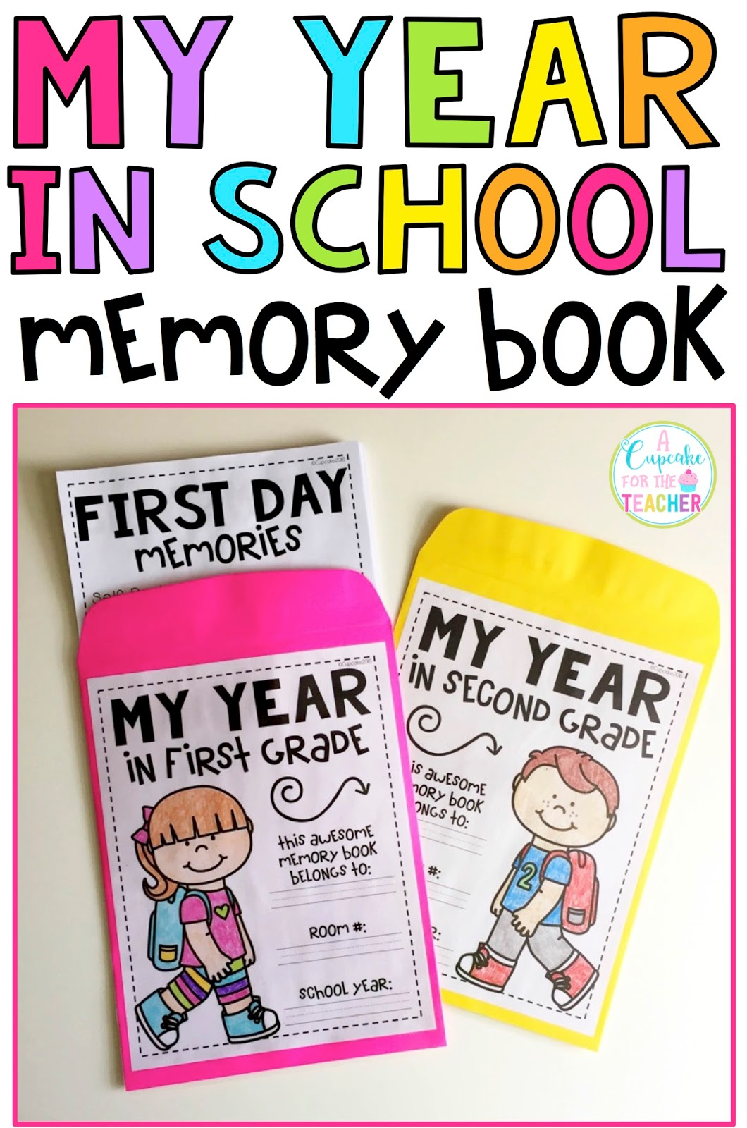 Book Cover School Quotes ~ My year in school memory book a cupcake for the teacher