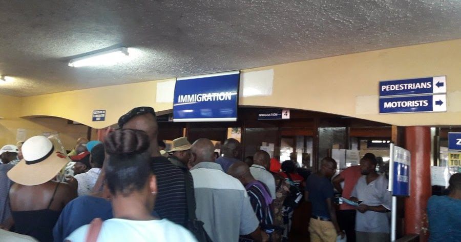 RETURNING ZIMBAS HAIL BEITBRIDGE BORDER AUTHORITIES