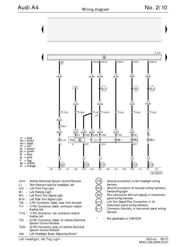 98 audi a4 fuse diagram the audi a4 complete wiring diagrams | schematic wiring ... #14
