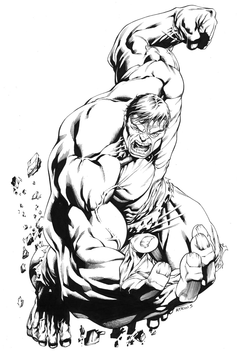 Marvel comics coloring pages printable ~ Robert Atkins Art: Strongest there is.....