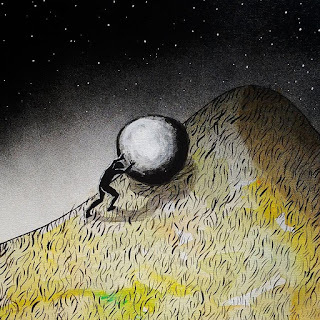 The myth of Sisyphus, by Nikki Bedson