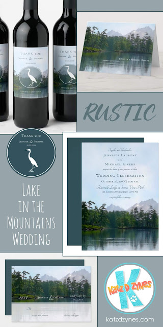 Lake in the Mountains Rustic Wedding Collection by katzdzynes