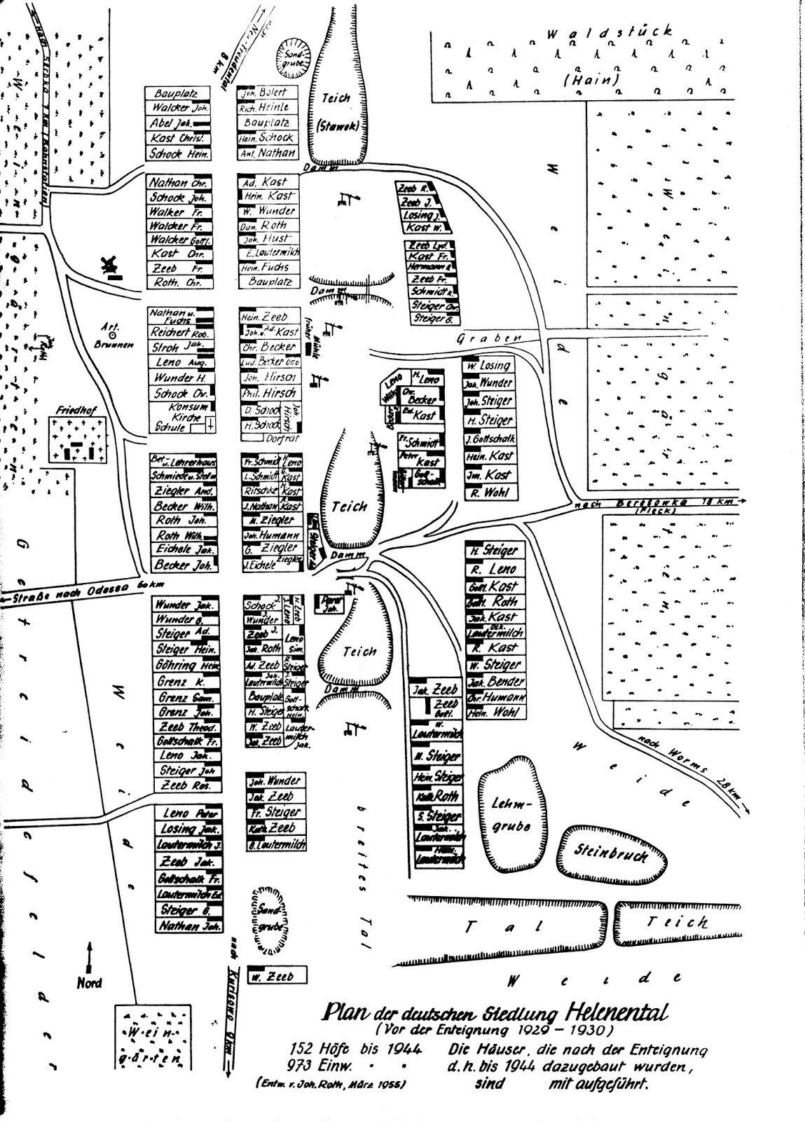 Germans from Russia Settlement Locations Helenental Liebental