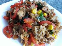 Kurczak z przyprawą gyros i warzywami
