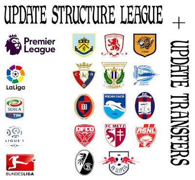 PES 2013 update structure league 2016-17 + transfers sampai 31 juli 2016