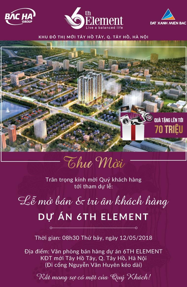 6th Element tri ân khách hàng Q1/2018