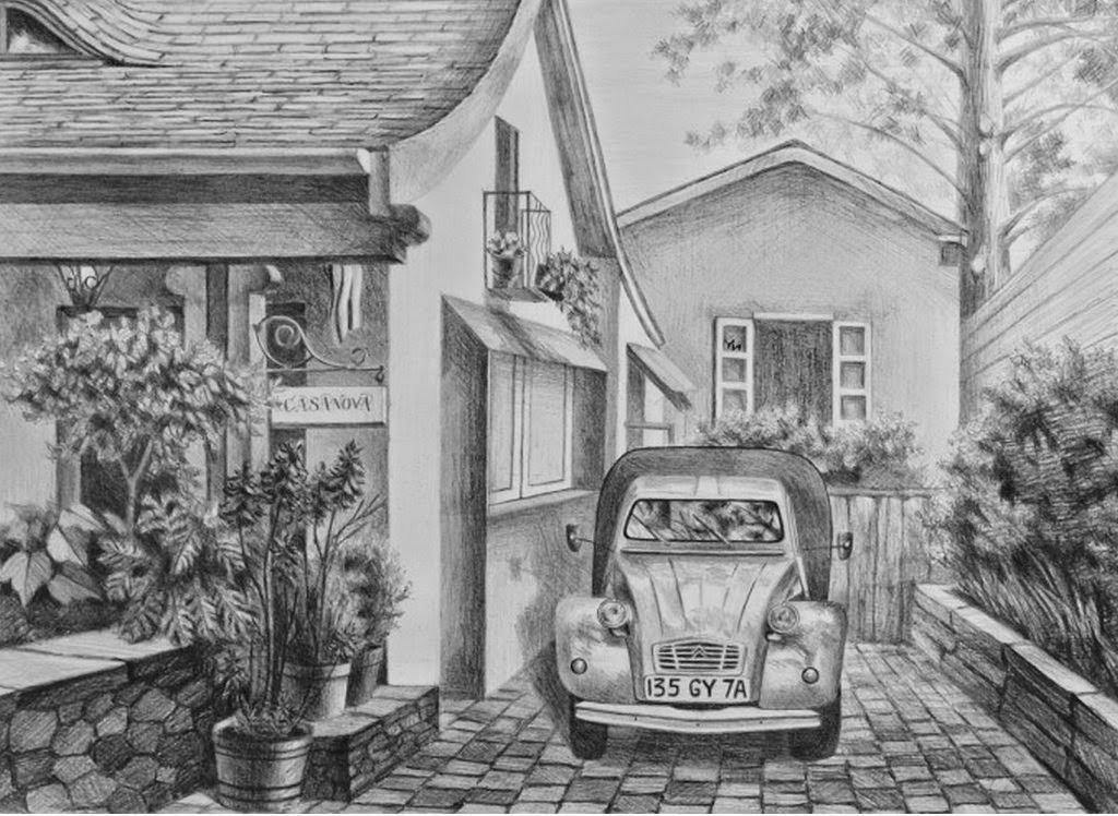 Pintura Moderna Y Fotografia Artistica Dibujos A Lapiz De Paisajes